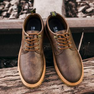 Fall British Boots Men Casual Shoes Breathable Board Shoes Boots Martin Boots - BROWNIE 42
