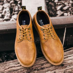 Fall British Boots Men Casual Shoes Breathable Board Shoes Boots Martin Boots - YELLOW 39