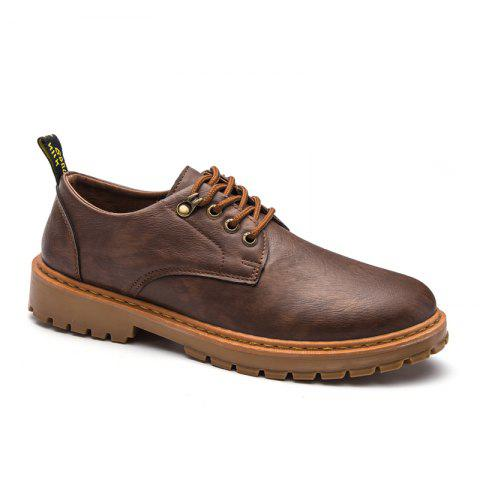 Affordable Fall British Boots Men Casual Shoes Breathable Board Shoes Boots Martin Boots BROWNIE 42