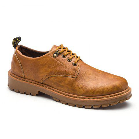 Outfits Fall British Boots Men Casual Shoes Breathable Board Shoes Boots Martin Boots YELLOW 39