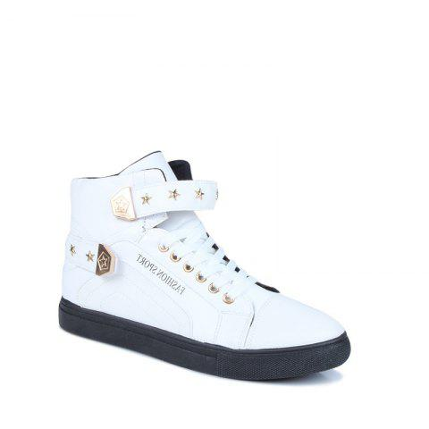 Outfits Autumn and Winter High Heel Men'S Shoes Trendy Running Shoes WHITE 44