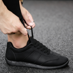Fall Men'S Casual Shoes Sports Shoes Plate Shoes Student Shoes - BLACK 39