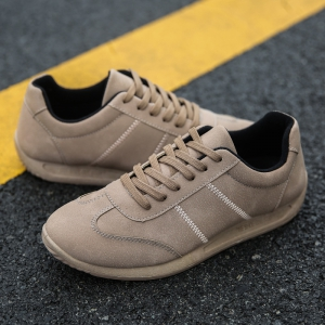Fall Men'S Casual Shoes Sports Shoes Plate Shoes Student Shoes - BROWN 44