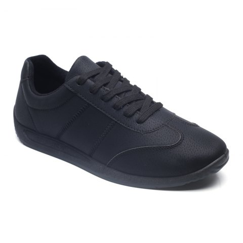 Chic Fall Men'S Casual Shoes Sports Shoes Plate Shoes Student Shoes - 40 BLACK Mobile
