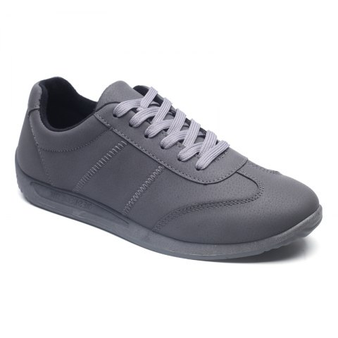 New Fall Men'S Casual Shoes Sports Shoes Plate Shoes Student Shoes GRAY 40