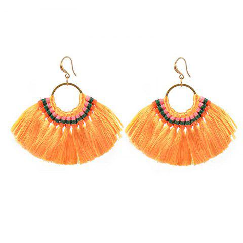 Hot Folk Style Earrings Handmade Exaggerated Multi Ladies Retro Fan Earrings