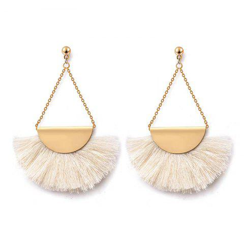 Store Folk Style Retro Temperament Earrings Geometric Triangle Fan Tassel Earrings