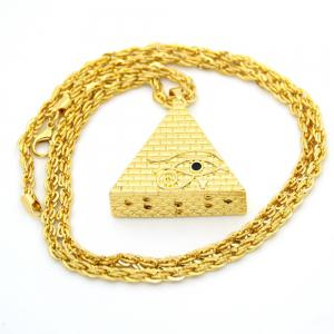 Hiphop Stereo Triangle Pyramid Eye Necklace -