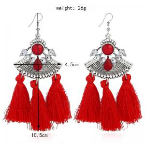 Fashion Jewelry and Diamond Earrings - RED