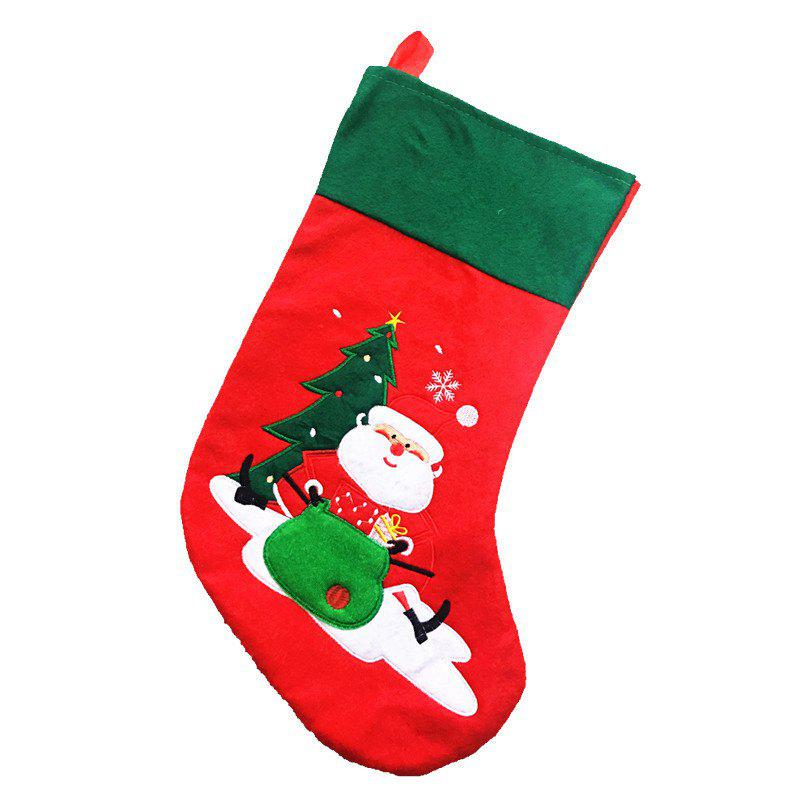 Creativity Santa Claus Socks Gift Bag Christmas DecorationsHOME<br><br>Color: RED; Material: Lint; For: All; Usage: Christmas,Party,Performance;