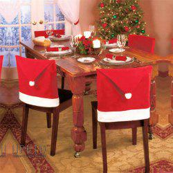 Christmas Decoration Red Hat Chair Cover -