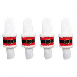 4pcs Napkin Ring Christmas Decorations -