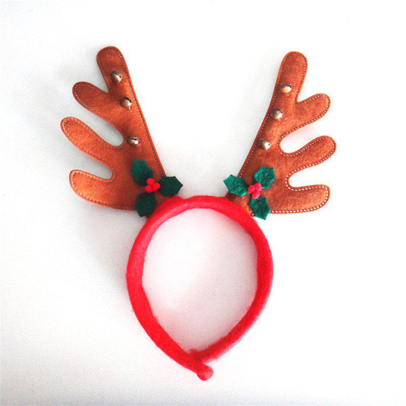 Christmas Antlers Headband with Bell Holiday Birthday Party Props SuppliesHOME<br><br>Color: RED;