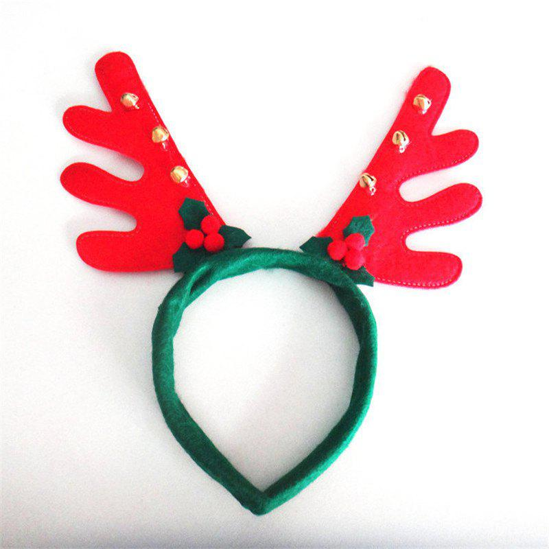 Christmas Antlers Headband with Bell Holiday Birthday Party Props SuppliesHOME<br><br>Color: GREEN;