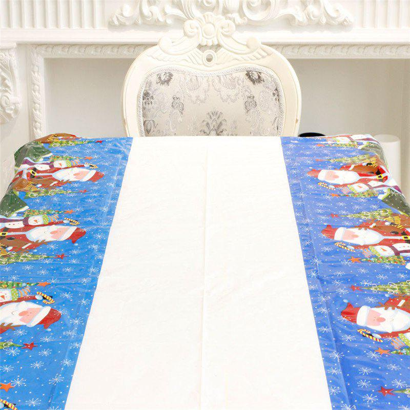 New Santa Claus Cartoon Tablecloth Christmas DecorationHOME<br><br>Color: BLUE; Material: PVC; Usage: Christmas,Party;
