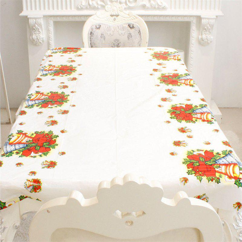 New Santa Claus Cartoon Tablecloth Christmas DecorationHOME<br><br>Color: RED; Material: PVC; Usage: Christmas,Party;