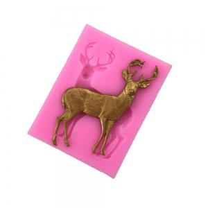 AY-XP130 Christmas Reindeer Pattern Fondant Mold for Cake Decoration -