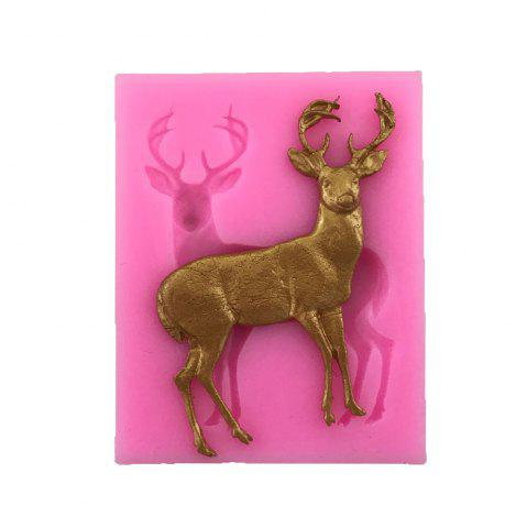 Hot AY-XP130 Christmas Reindeer Pattern Fondant Mold for Cake Decoration