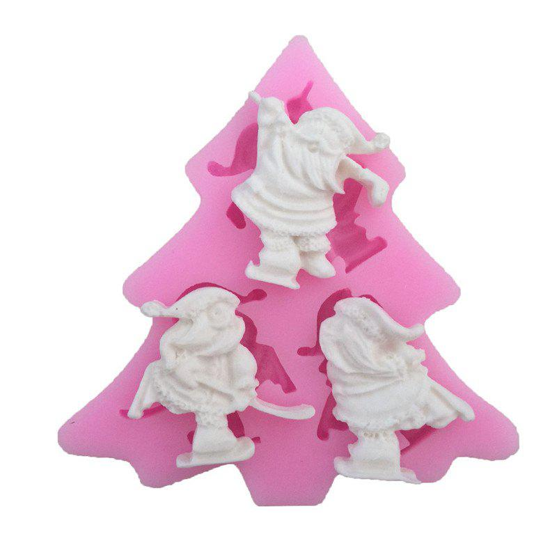 AY - XP13803 Santa Claus Silicone Pattern Fondant Mold for Cake DecorationHOME<br><br>Color: PINK;