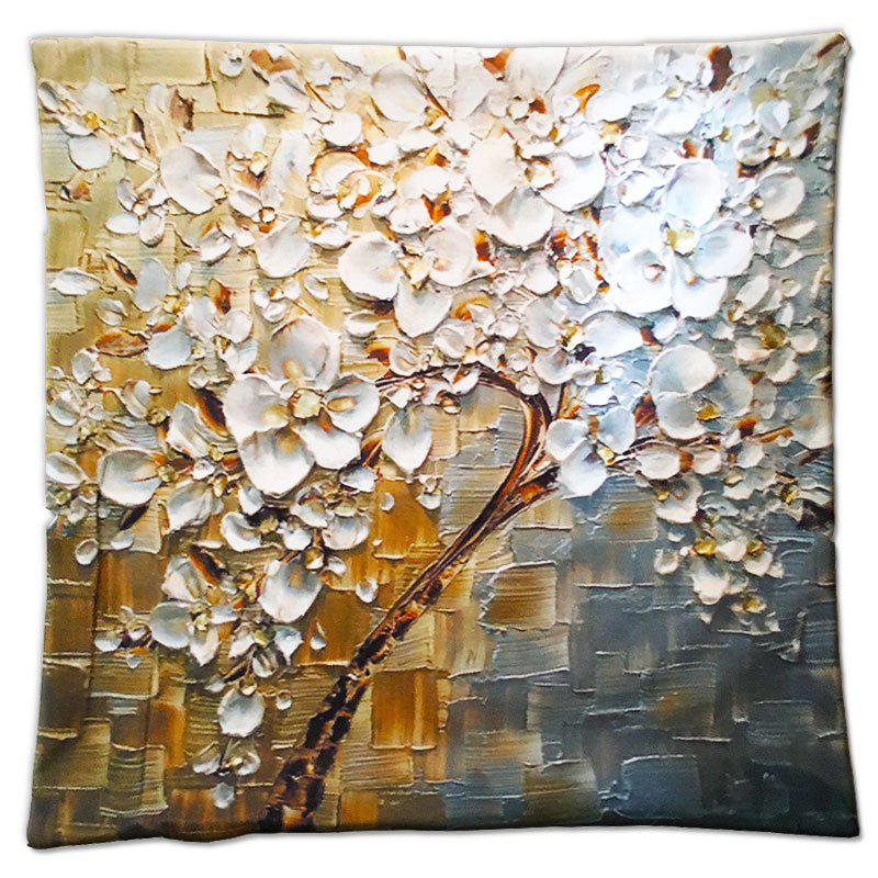 3D Flower Trees Painting Style Series Of Three-dimensional Pattern Magnolia Painting Style Cloth Pillow CoverHOME<br><br>Color: ????COLORMIX?;