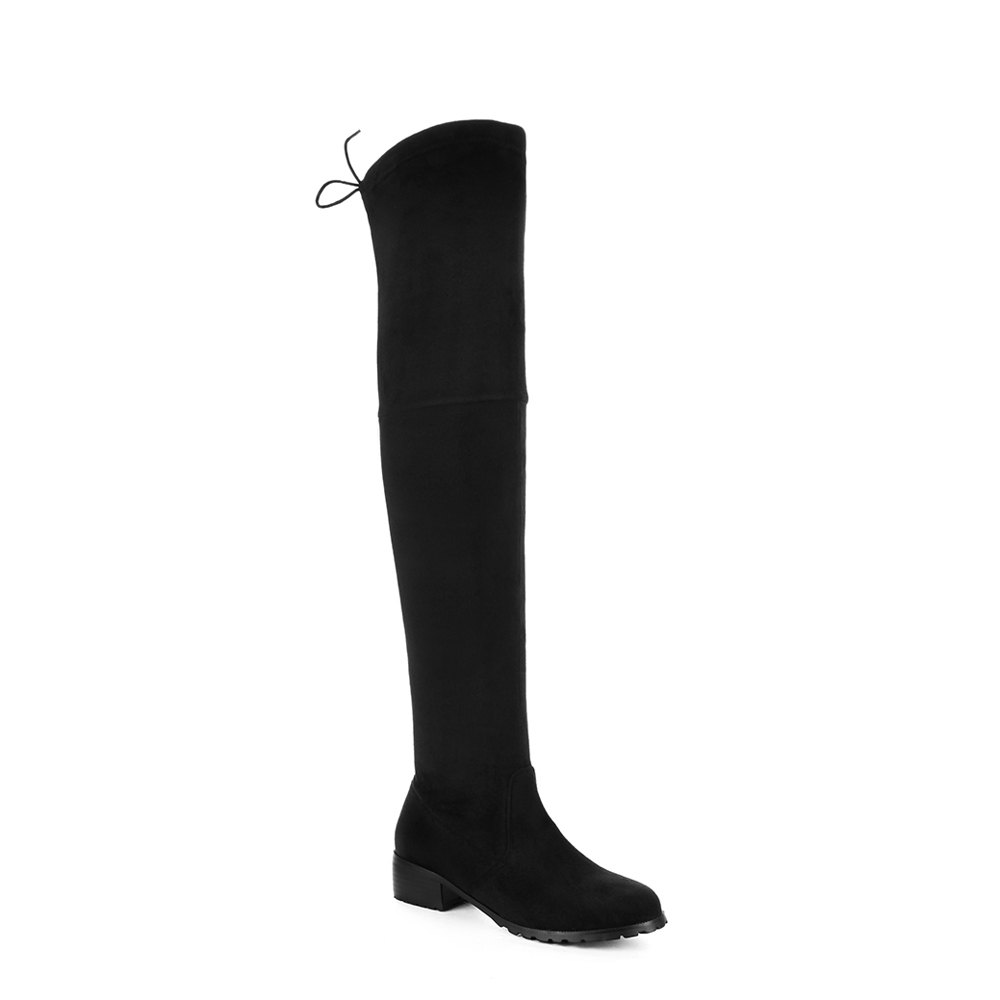 Shop Women's Above Knee Boots Solid Color Sexy High Heel Boots