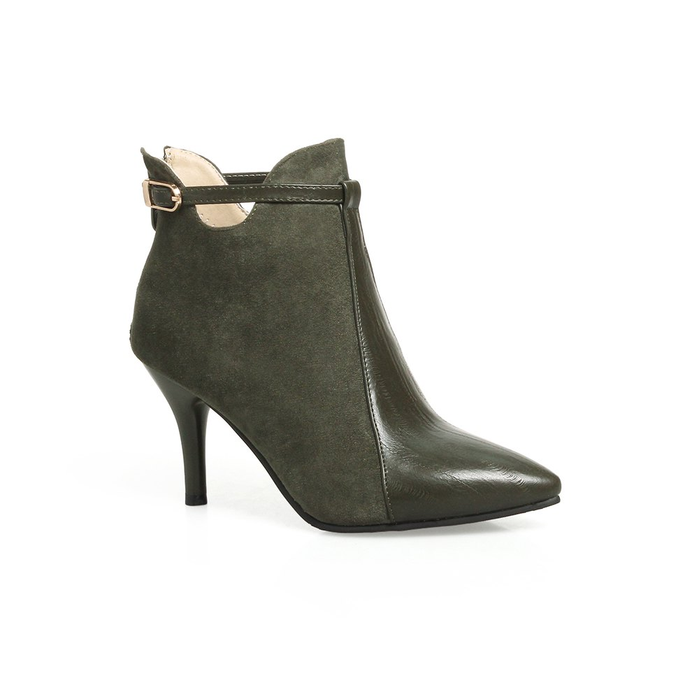 Outfit Women's Bottine Elegant Thin Heels Zipper Boots
