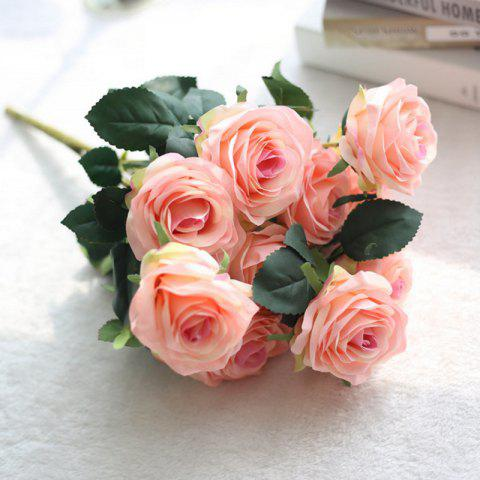 Chic XM European Style Hemming Rose Home Decoration Wedding Artificial Flower 45CM 10 Count