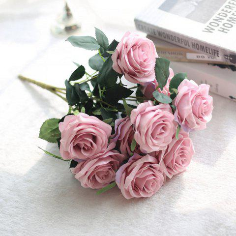 Trendy XM European Style Hemming Rose Home Decoration Wedding Artificial Flower 45CM 10 Count