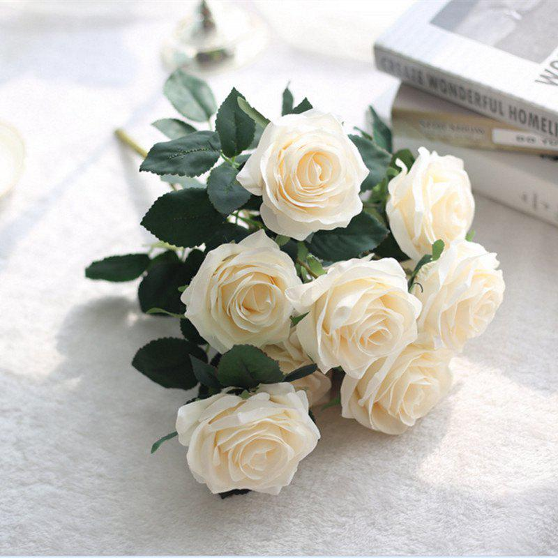 Hot XM European Style Hemming Rose Home Decoration Wedding Artificial Flower 45CM 10 Count