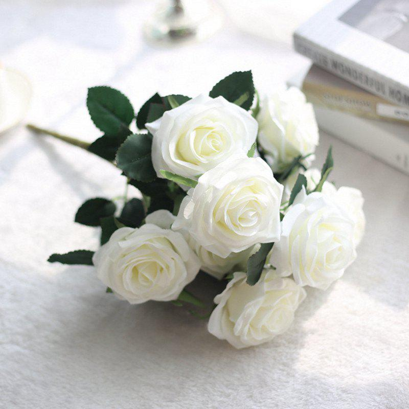 Best XM European Style Hemming Rose Home Decoration Wedding Artificial Flower 45CM 10 Count