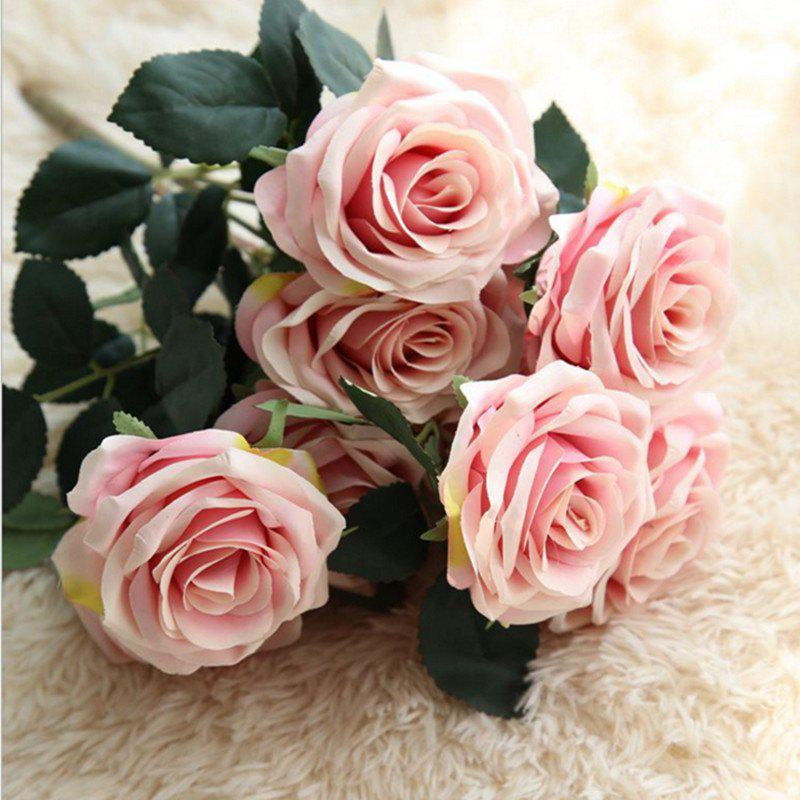 Cheap XM European Style Hemming Rose Home Decoration Wedding Artificial Flower 45CM 10 Count