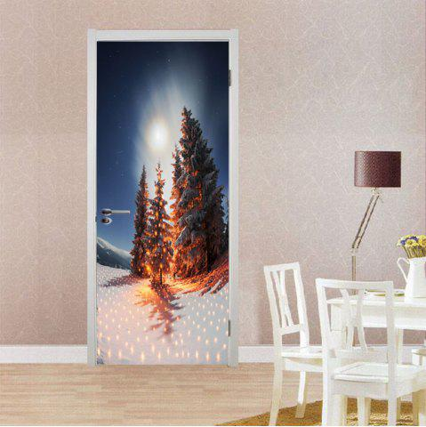 Buy DSU Nighscape Christmas Tree Wall Sticker Mural Bedroom Door Poster Home Decor - Mix Color 77 X 200 Cm