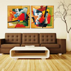 Hua Tuo Musical Oil Painting Size 80 x 80CM OSR - 160352 -