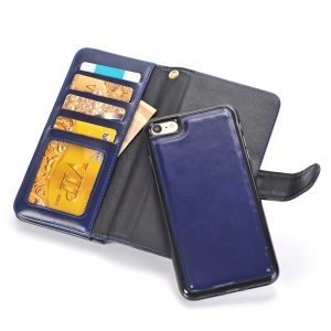 Multi Card-slot Premium Leather Wallet Pouch Case for iPhone 7 / 8 -