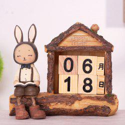 Creative Setting Lapin Desktop Calendrier Décoration Novel -