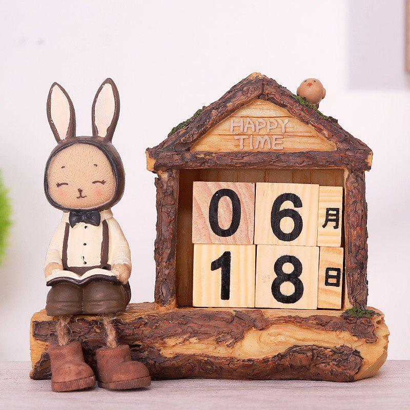 Creative Setting Lapin Desktop Calendrier Décoration Novel