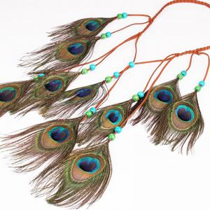 National Style Feather Headdress Peacock Hair with Europe and The United States Scenic Shooting Headdress Indian Style -