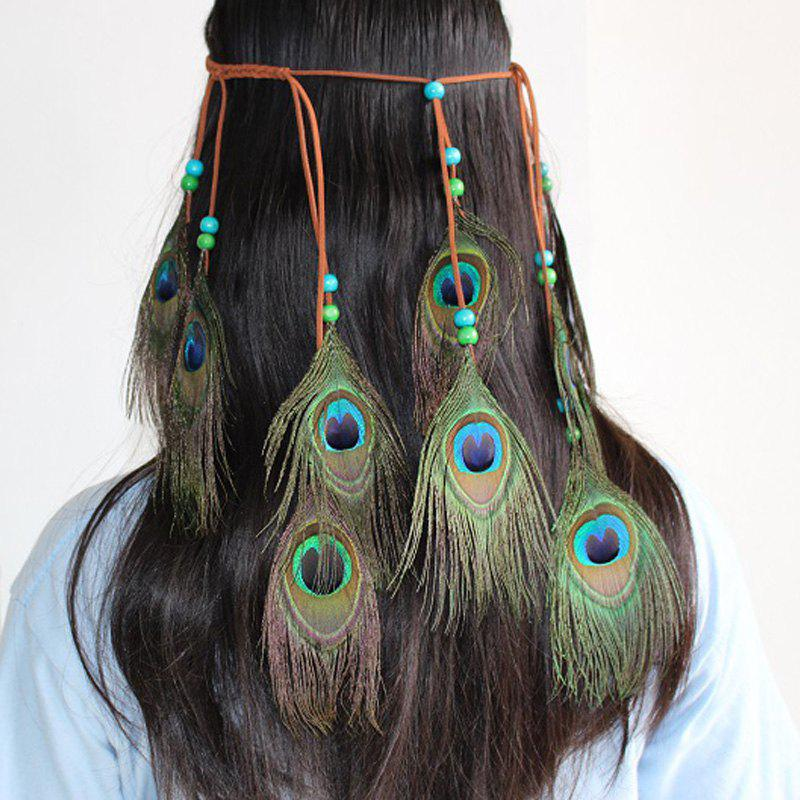 Chic National Style Feather Headdress Peacock Hair with Europe and The United States Scenic Shooting Headdress Indian Style