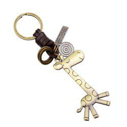 Lovely Giraffe Alloy Keyring -