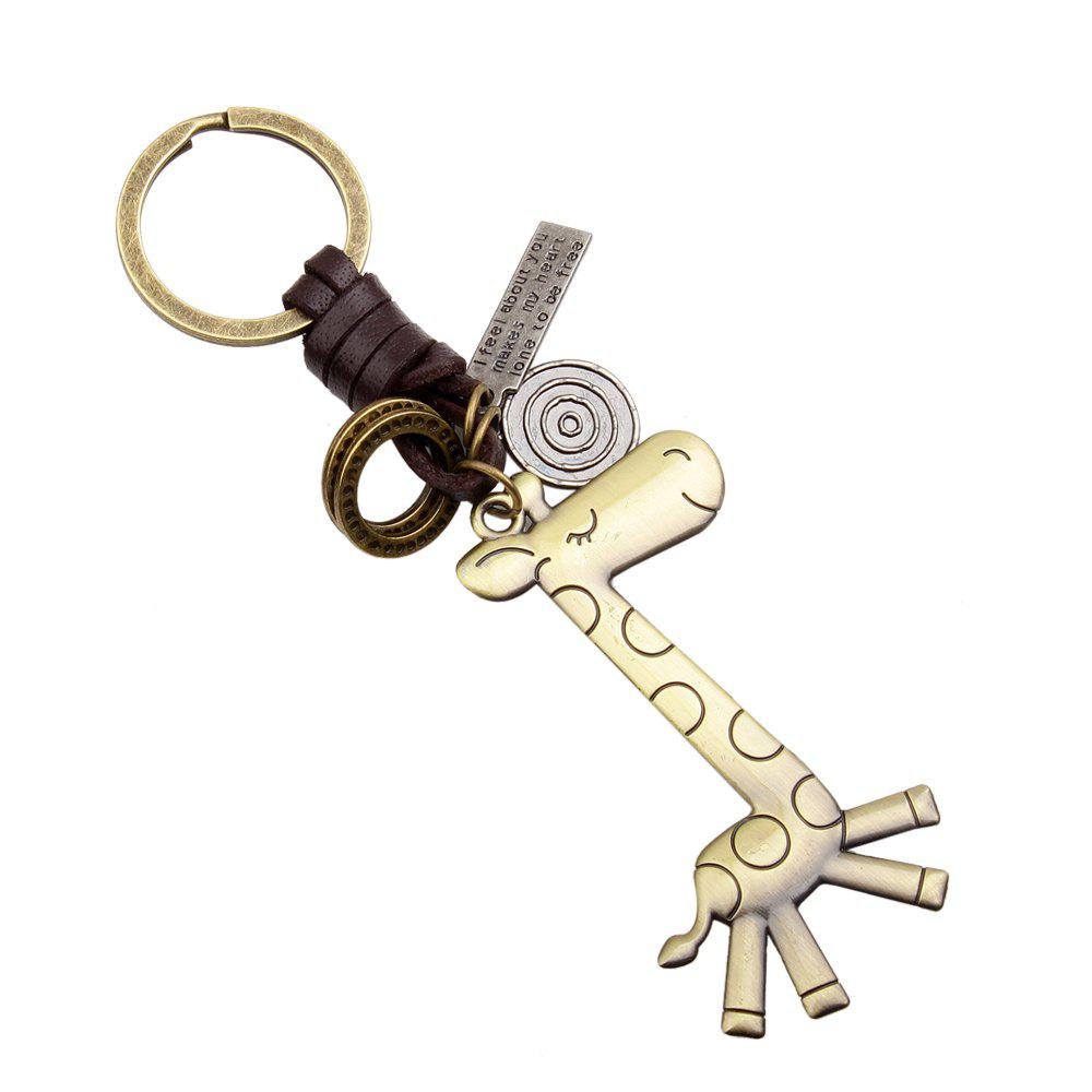 Fashion Lovely Giraffe Alloy Keyring