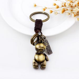 Punk Cute Teddy Bear Doll Hand Woven Key Chain -