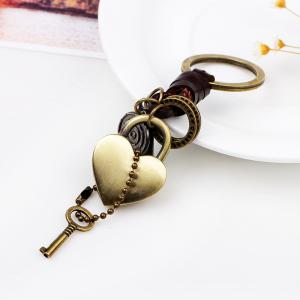 Punk Style Love Metal Heart  Keyring -