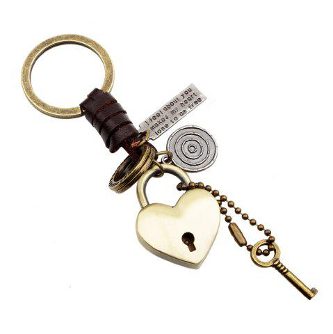 Unique Punk Style Love Metal Heart  Keyring