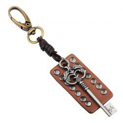 Leather Rivet Archaize Key Keyring -