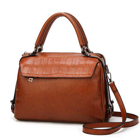 Outfit The Oil Wax Leather Vintage Fashion Style with A Handbag with A Multi-Functional Bag