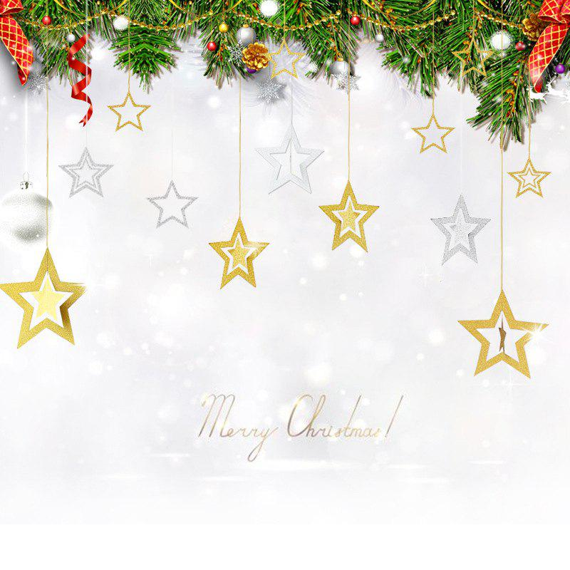 Christmas Tree Stars Decorations Festival Air AccessoriesHOME<br><br>Color: SILVER AND GOLDEN; Material: Paper; Usage: Birthday,Christmas,New Year,Others,Party,Performance,Stage,Wedding; Package Quantity: 1 x  Christmas Decoration;