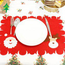 Santa Christmas Table Mat Knives and Forks Decoration -