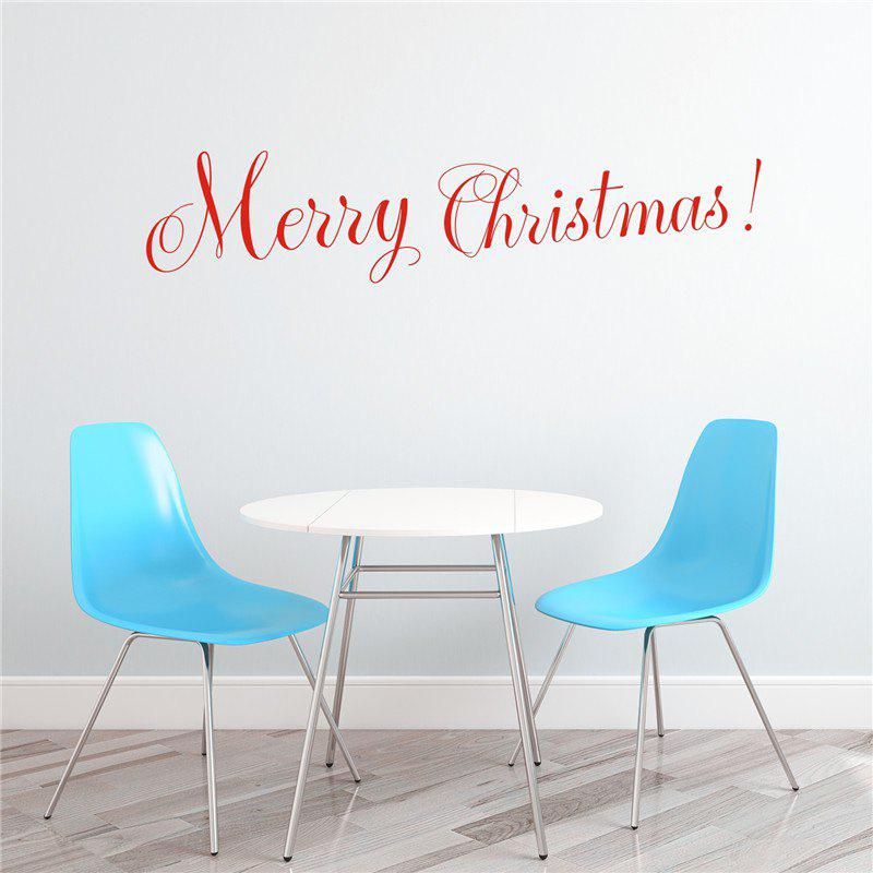 Merry Christmas Removable Wall Stickers DecorationHOME<br><br>Color: RED;