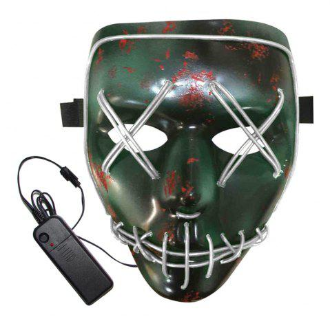 Shops BRELONG Halloween Mask Green Full Blood Horror EL Cold Light for Make-up Party