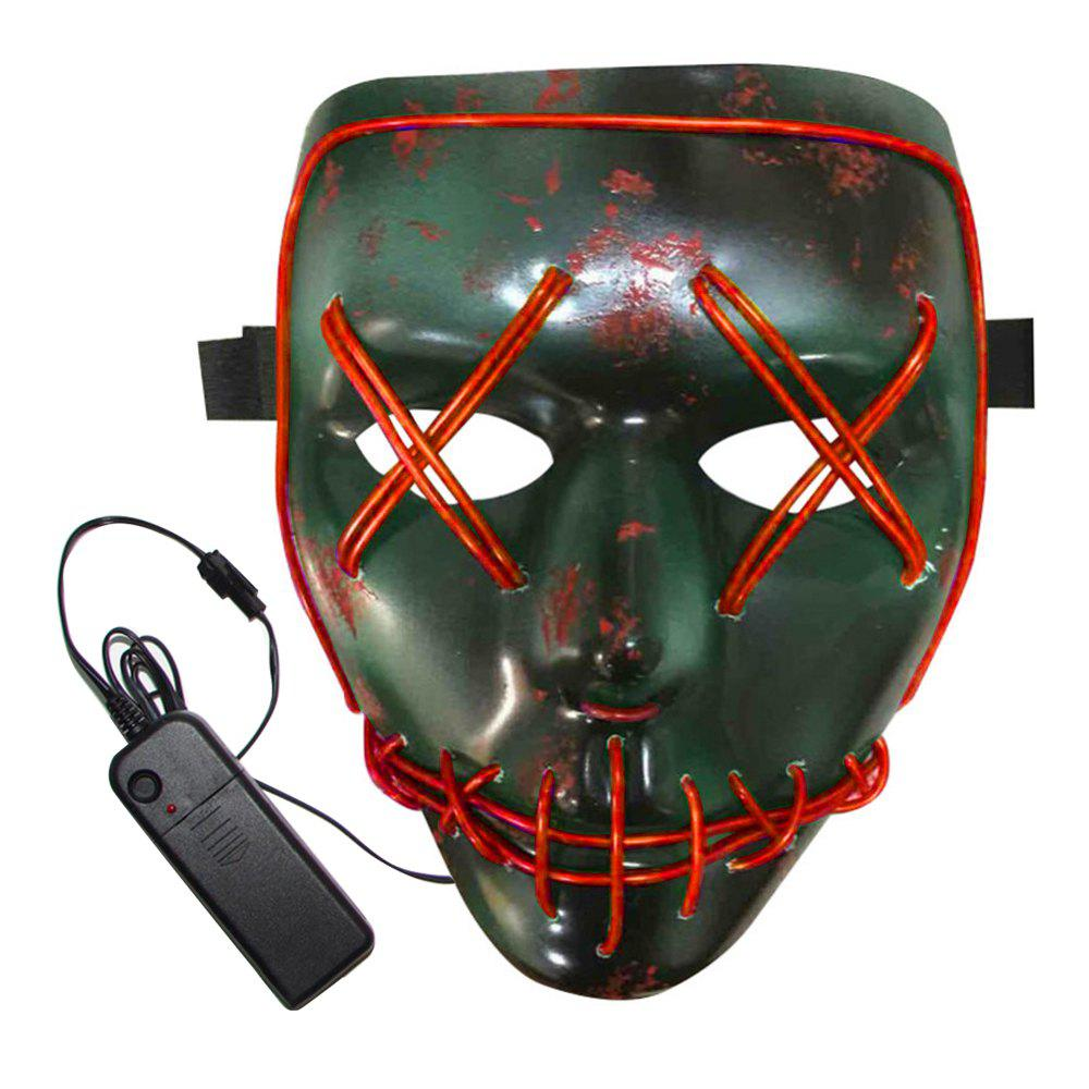 Online BRELONG Halloween Mask Green Full Blood Horror EL Cold Light for Make-up Party
